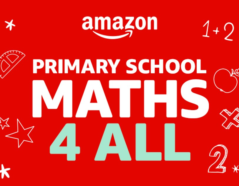 Red banner with the text Primary School, Maths 4 All