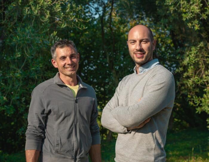 I fondatori di Nuvò Cosmetic, Andrea Gaspari e Luca Gussoni