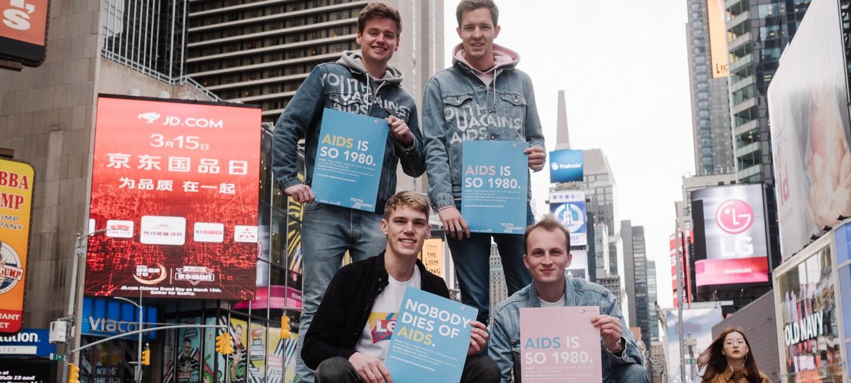 Jugend gegen Aids in New York.