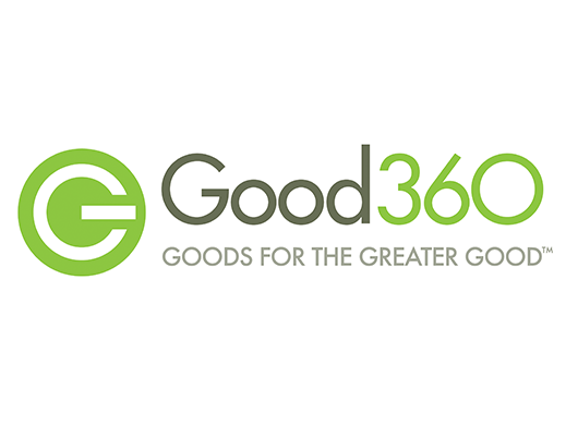 Good360: Goods for the Greater Good logo on a white background.