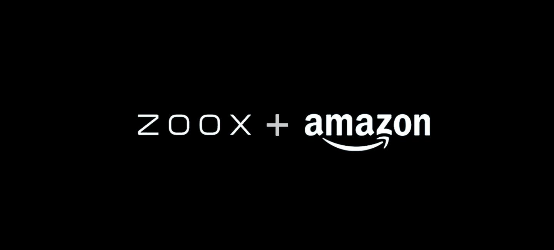 ZOOX + Amazon logos in white on black background