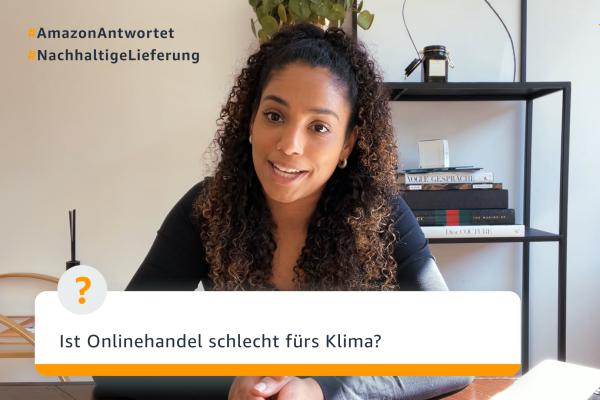 Cherifa fragt bei Ole nach, ob der Onlinehandel schlecht fürs Klima ist.
