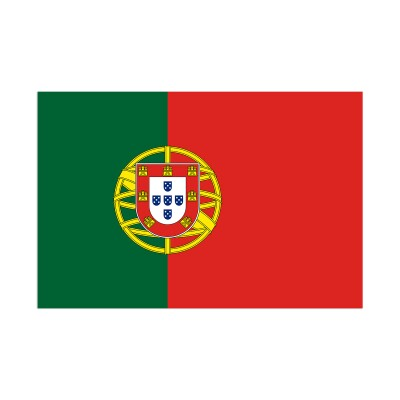 Country flag for Portugal on white background