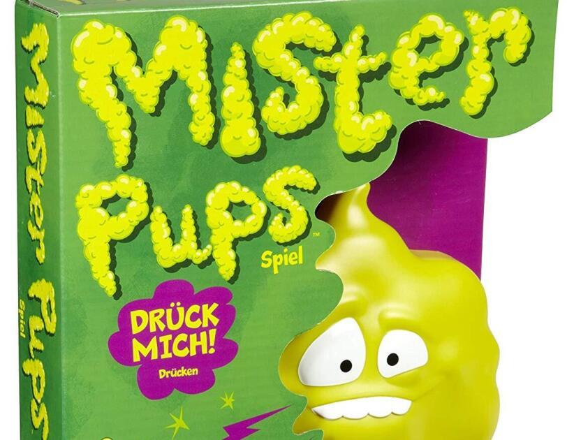 Abbildung des Spiels Mister Pups von Mattel, erhältlich auf Amazon.de.