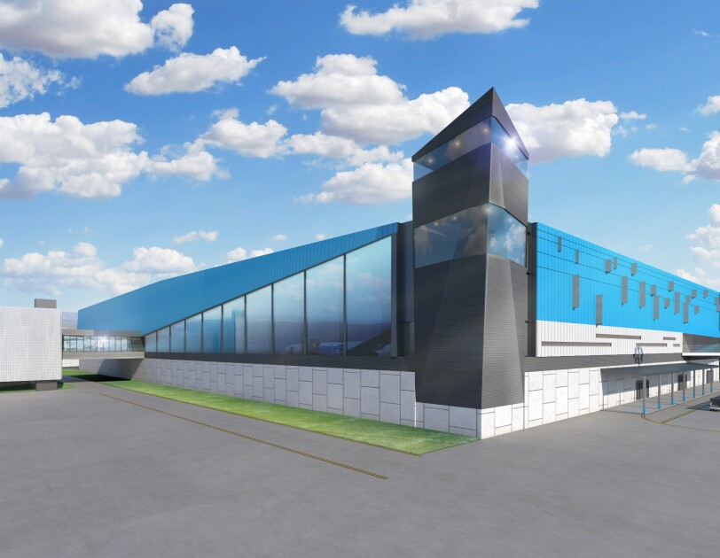 Exterior rendering of the new Prime Air hub to be built at CVG.