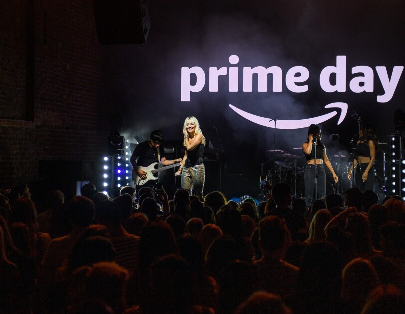 Rita Ora performing - Amazon Prime Day music event