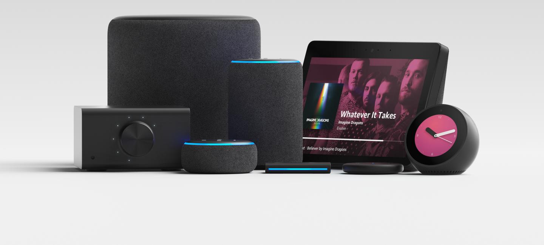New Echo devices including the Echo Link, Echo Dot, Echo Sub, Echo Plus, Echo Auto, Echo Show, Echo Input and Echo Spot.