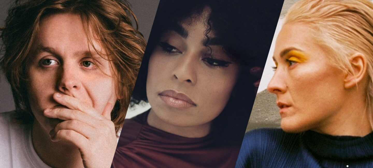 Prime Day Live banner image showing headshots of Lewis Capaldi, Celeste and Cate Le Bon (left to right)