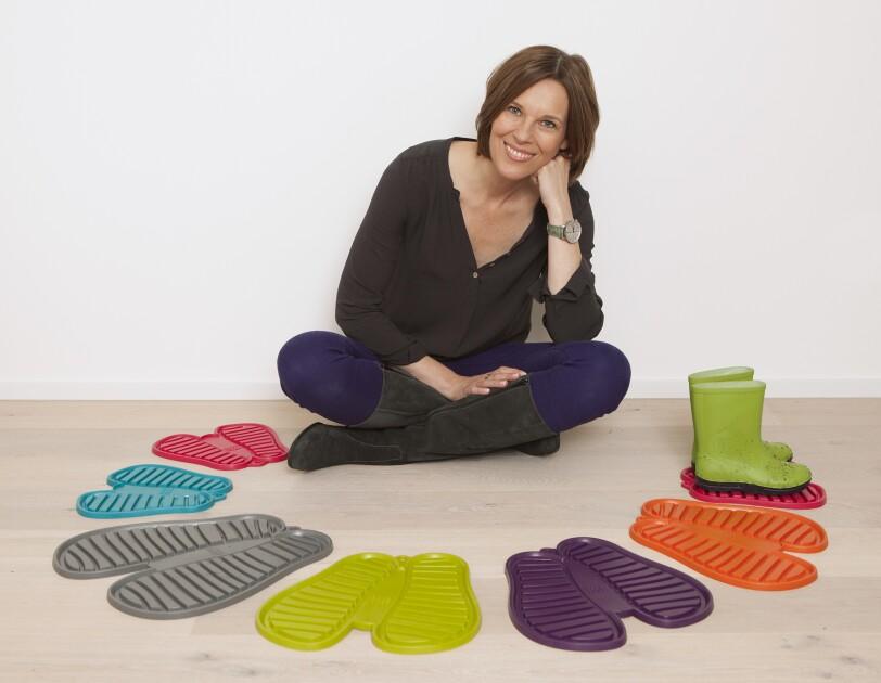 Unternehmerin Susanne Richter mit ihren Alltagshelfern