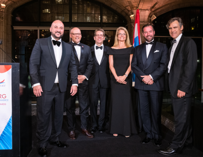 Amazon receives the Luxembourg-America Business Award in New York on 15 May 2018