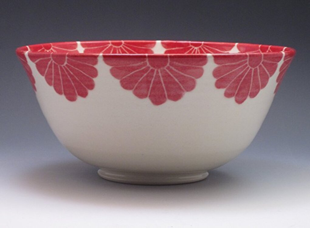 Sarah Bak Pottery porcelain serving bowl