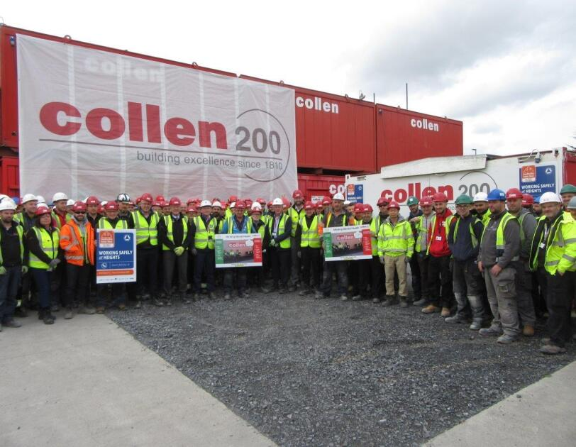 """Collen's team celebrating Construction Safety Week in 2019."""
