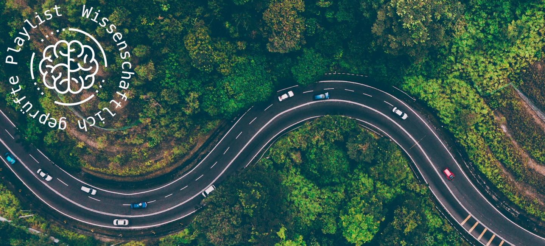 Playlist Entspannt Autofahren; Straßenverlauf