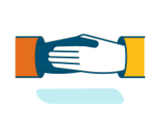 An illustration of two hands shaking in agreement.