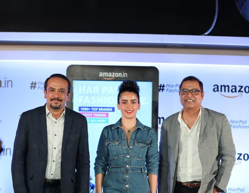 Arun and Ravi Desai with actress Sanya Malhotra