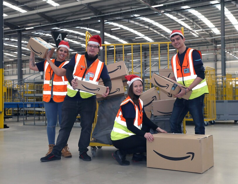 Amazon associates from around the world celebrate the beginning of Peak.