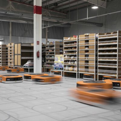 Amazon robotics at work in a Fulfillment Center