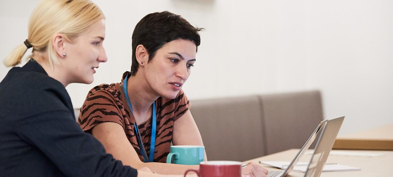 Female employees working at Amazon Edinburgh