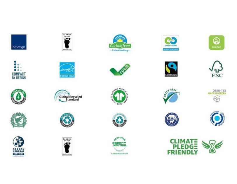 Die Siegel von Climate Pledge Friendly