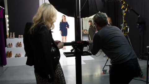 Behind the scenes at Amazon Fashion studios in New York City