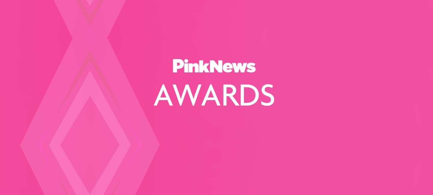 Pink web banner for Pink News Awards