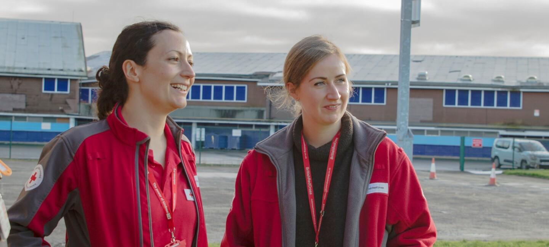 British Red Cross female employees