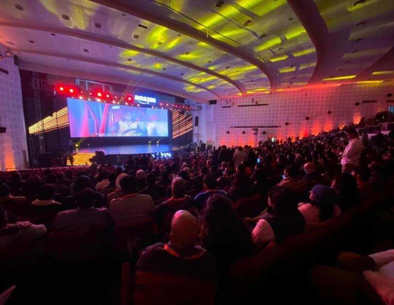 Crowd at Sambhav 2020 Amazon India