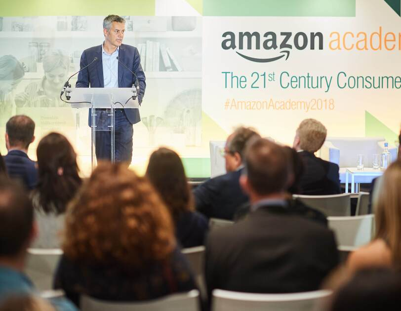 Fred Duval speaking at Amazon Academy 2018.