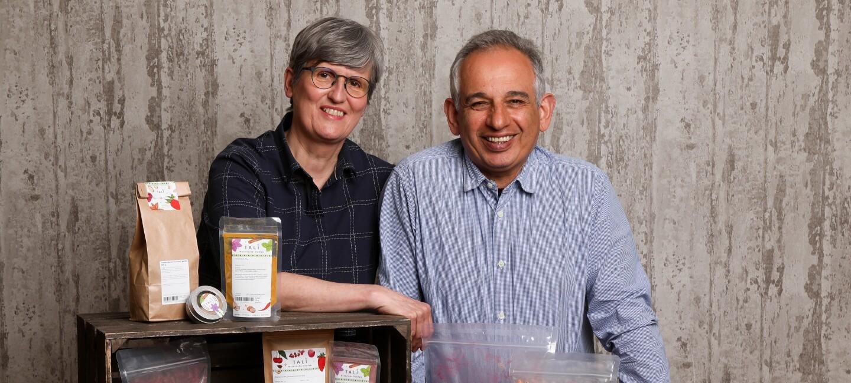 Aziz Pourebrahim und Anette Meywirth verteiben unter dem Namen TALI persische Spezialitäten.