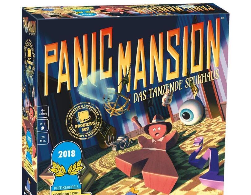 Abbildung des Brettspiels Panic Mansion, erhältlich auf Amazon.de.