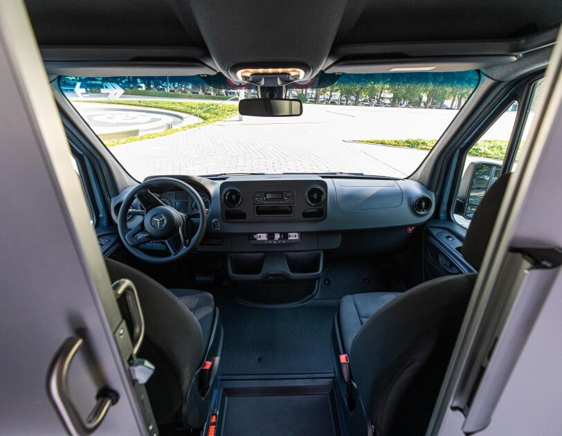Interior of the Mercedes-Benz eSprinter