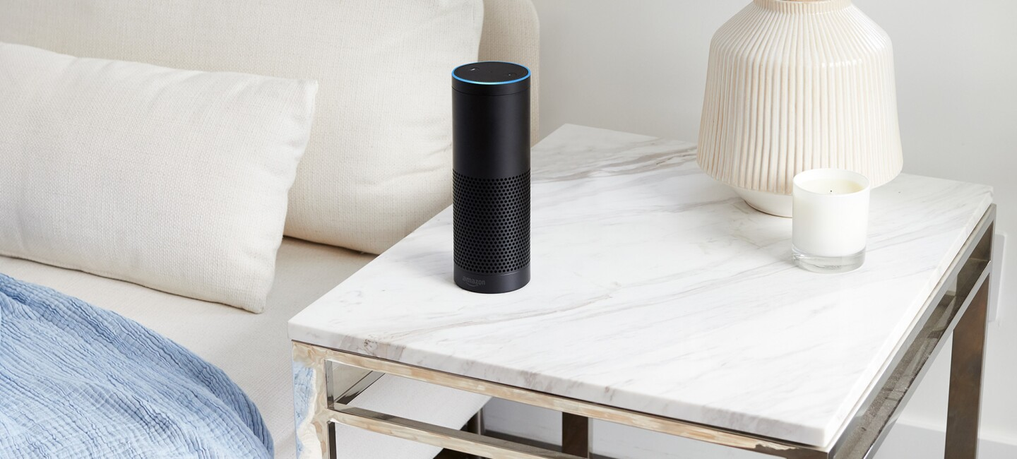 Amazon Echo, an Alexa-enabled device
