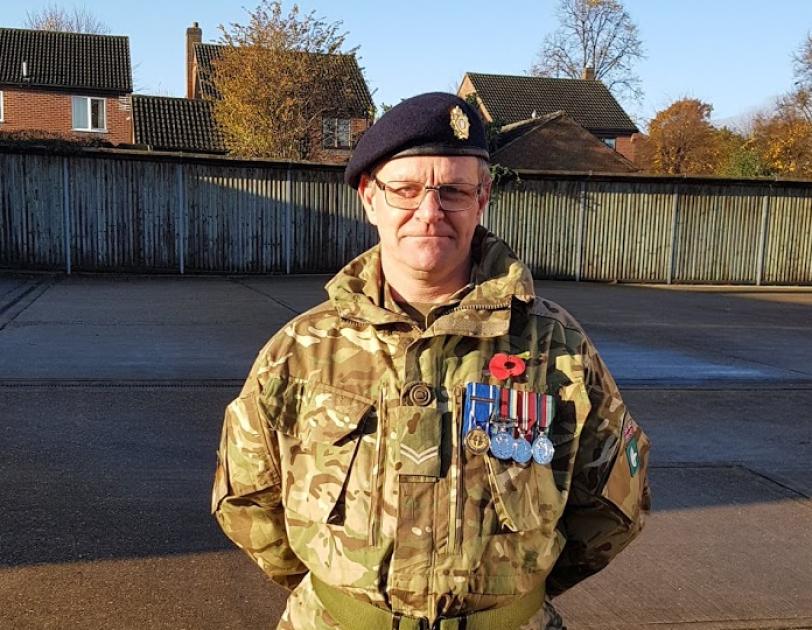 Gary Scott Wishart in his army uniform
