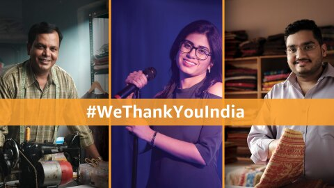 Amazon INdia says thank you to India