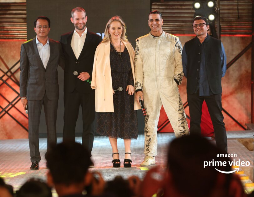 Akshay with team Amazon INdia