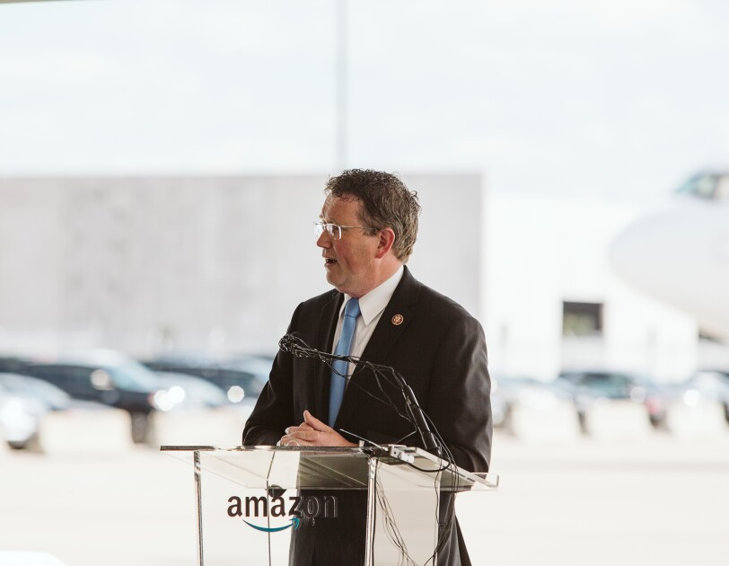 Amazon Prime Air Hub groundbreaking ceremony in Hebron, Kentucky.