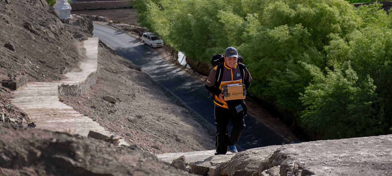 W Lehu pokonanie dystansu między drogą a domem, do którego należy dostarczyć przesyłkę może być wyjątkowo czasochłonne.