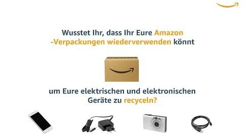 Wiederverwendung von Amazon Verpackungen zum Recyceln von elektrischen und elektronischen Geräten