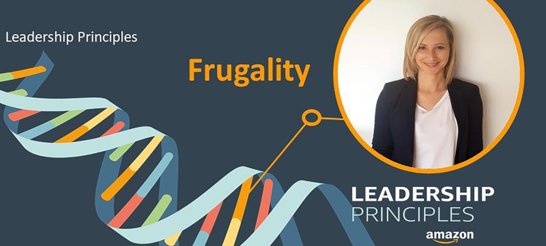"""Joanna Mittnacht stellt das Leadership Principle """"Frugality"""" vor."""