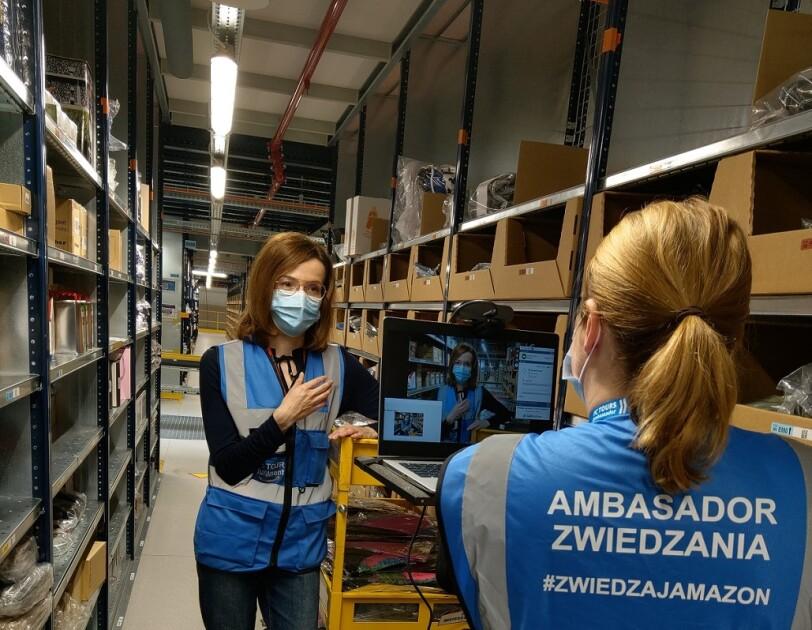 Wirtualne zwiedzanie centrów logistycznych Amazon