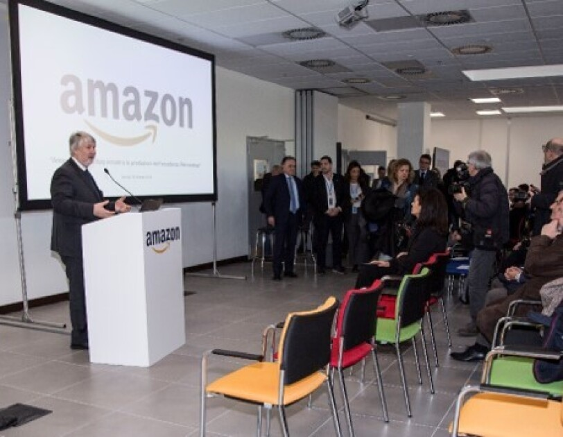 Italy's Former Minister of Labour, Hon Giuliano Poletti is speaking at Amazon Academy in Italy.
