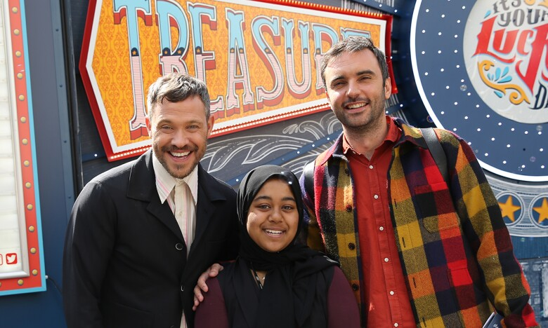 Chris Sweeney and Will Young stood with student for LGBT+ reading roadshow