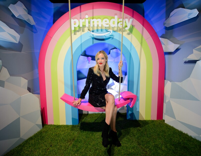 Laura Whitmore on the photo booth