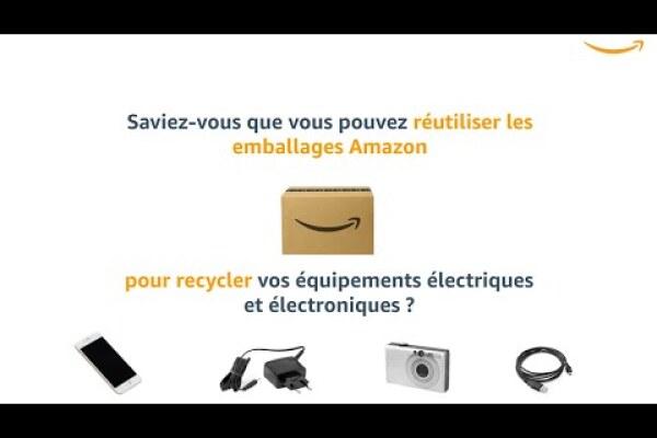 Réutilisez les emballages Amazon pour recycler vos équipements électriques et électroniques.