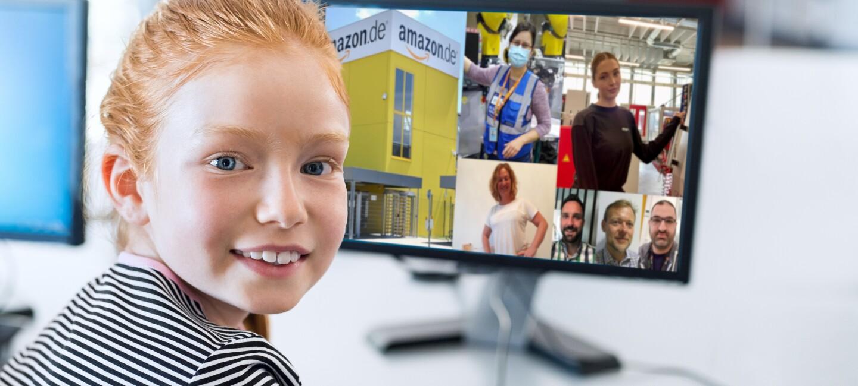 Mädchen am Rechner