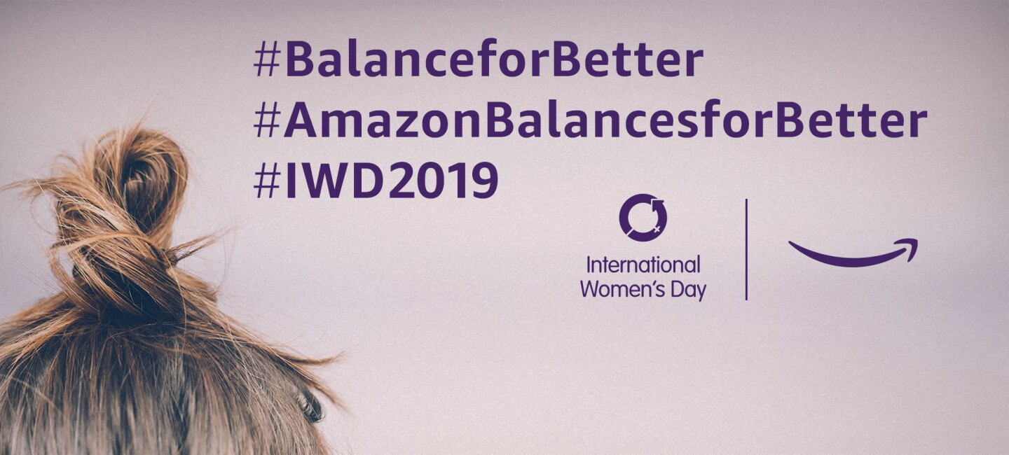 Amazon_WomensDay_Blog_Titelgrafik mit Logos