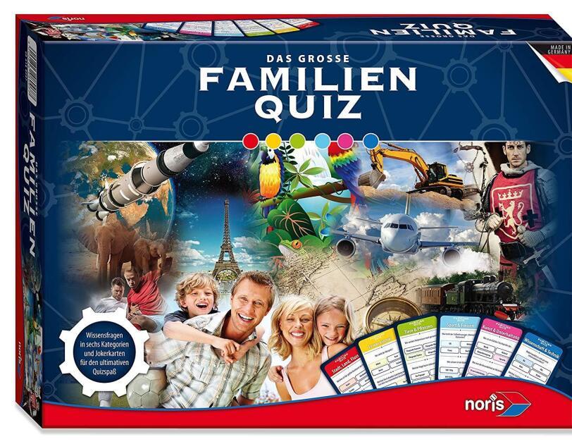 Abbildung des Spiels Familienquiz von Noris, erhältlich auf Amazon.de.
