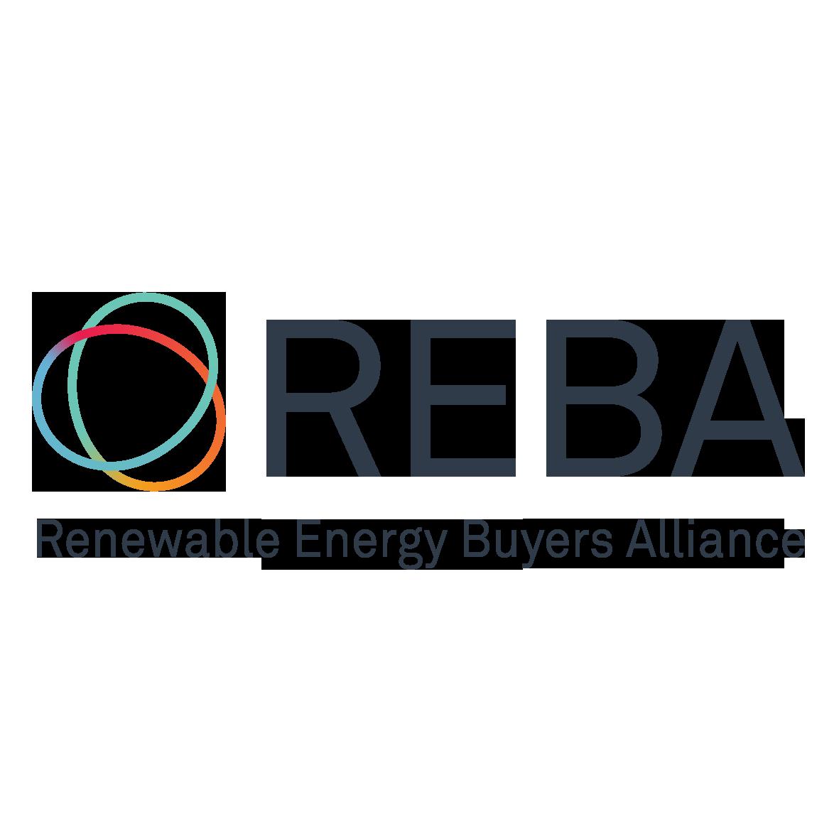 Logo of REBA: Renewable Energy Buyers Alliance, an Amazon Sustainability partner