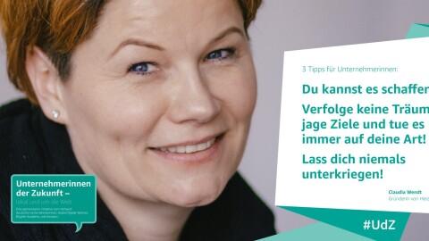 Porträt von Claudia Wendt von Heizungsdrache, Teilnehmerin von UdZ.
