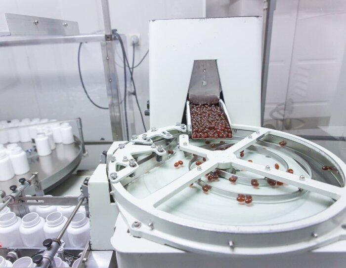 Laboratorio donde fabrican las pastillas de Qualnat. Esta es una parte del proceso.